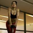 Somayeh des  Anges 7  transforme son corps grâce au sport. Octobre 2015.