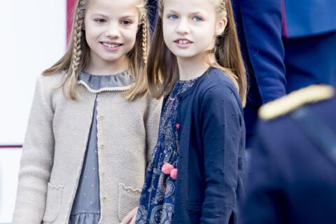 Letizia et Felipe VI d'Espagne : Leonor et Sofia rieuses pour la Fête nationale