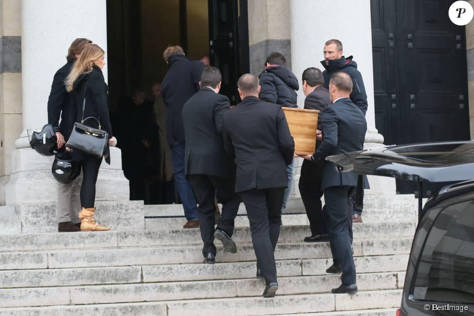 Exclusif - Alexandre Brasseur - Obsèques de Jean-Jacques Grimblat au crématorium du Père-Lachaise à Paris le 15 octobre 2015.