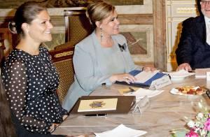 Victoria de Suède, enceinte, et Albert de Monaco : Comité sportif au Luxembourg