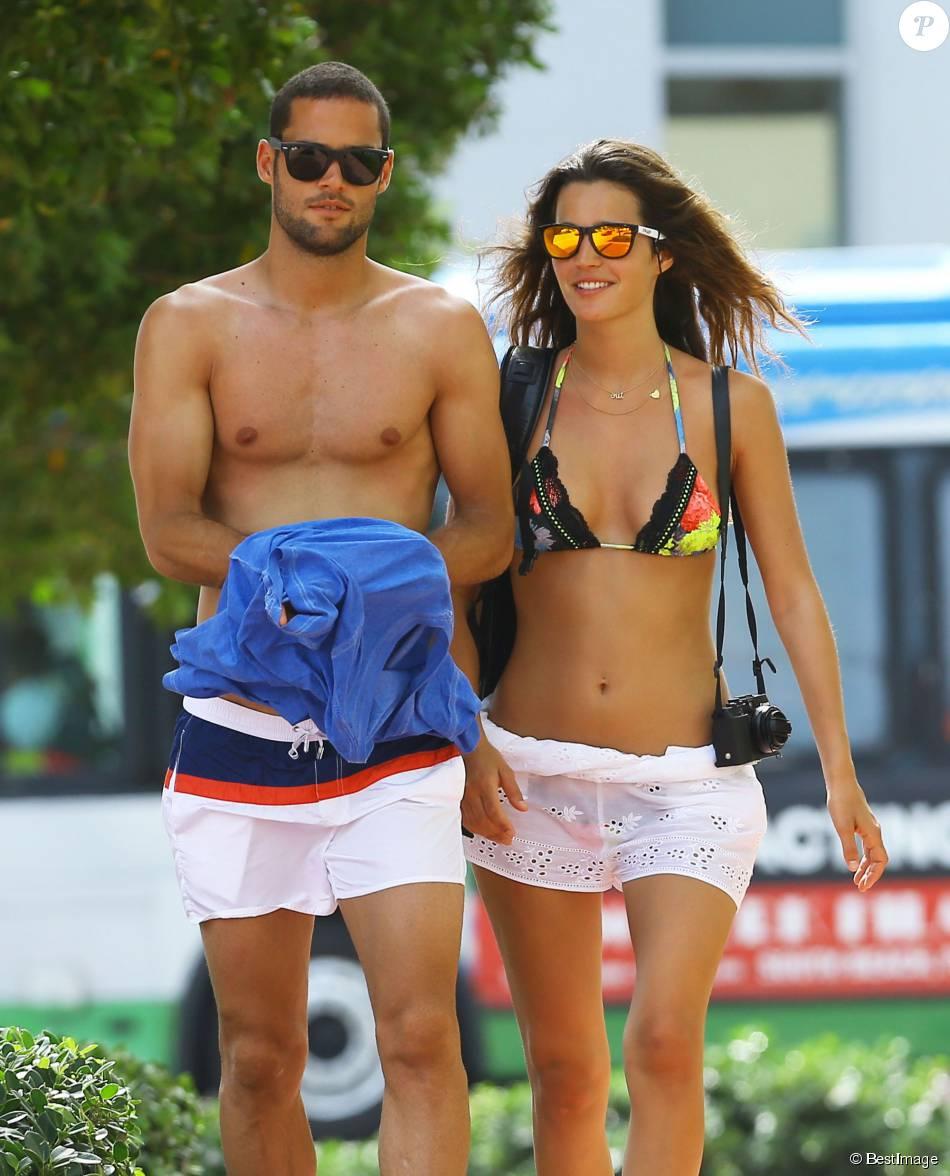 Mario Suarez et sa fiancée Malena Costa à Miami le 30 mai 2014