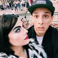 Grégoire Lyonnet et Alizée déguisée en Cruella à Disneyland Paris. Septembre 2015.