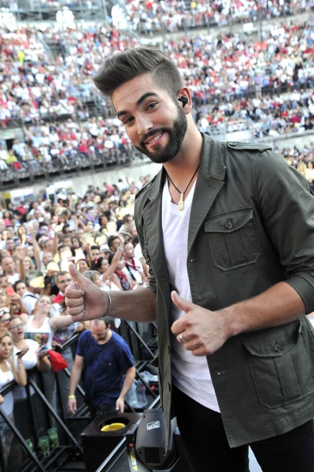 Exclusif - Le chanteur Kendji Girac à Nîmes, le 20 juin 2015.