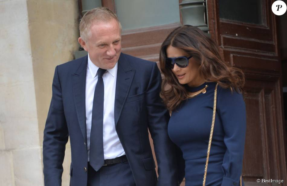 fran ois henri pinault et sa femme salma hayek people la sortie du d fil de mode stella. Black Bedroom Furniture Sets. Home Design Ideas