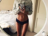 Caroline Receveur très sexy : La bombe exhibe son ventre plat en petite culotte