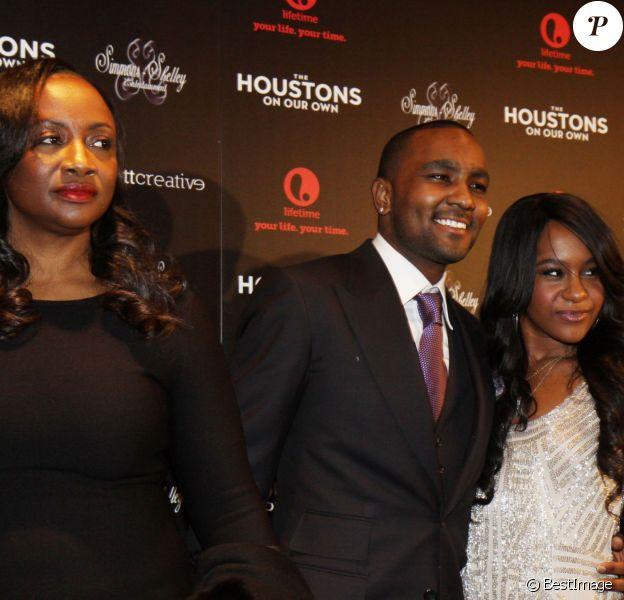 Pat Houston, Nick Gordon, Bobbi Kristina Brown - La famille Houston a l'avant-premiere de leur nouvelle emission de tele-realite 'The Houstons On Our Own' a New York le 22 octobre 2012