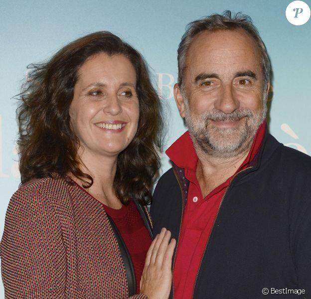 """Pascale Pouzadoux et son mari Antoine Duléry - Avant-première du film """"La Dernière Leçon"""" au cinéma UGC Bercy à Paris, le 3 novembre 2015."""