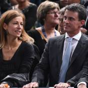 Manuel Valls et Anne Gravoin : Supporters complices face au grand Novak Djokovic