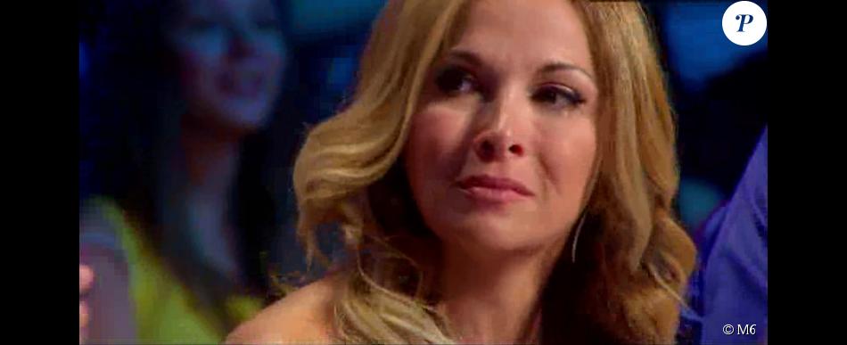 Hélène Ségara, très émue, dans  Incroyable Talent 2015  sur M6 (épisode du mardi 17 novembre 2015).