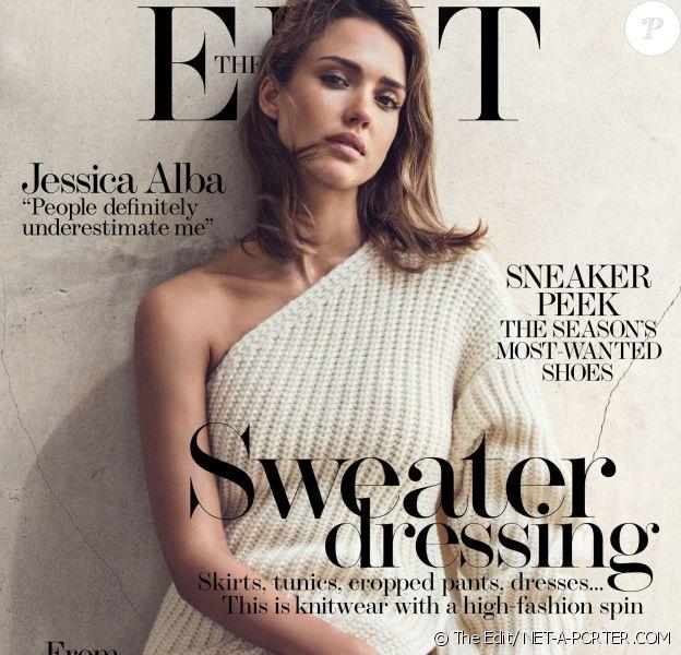 Jessica Alba pour le magazine The Edit
