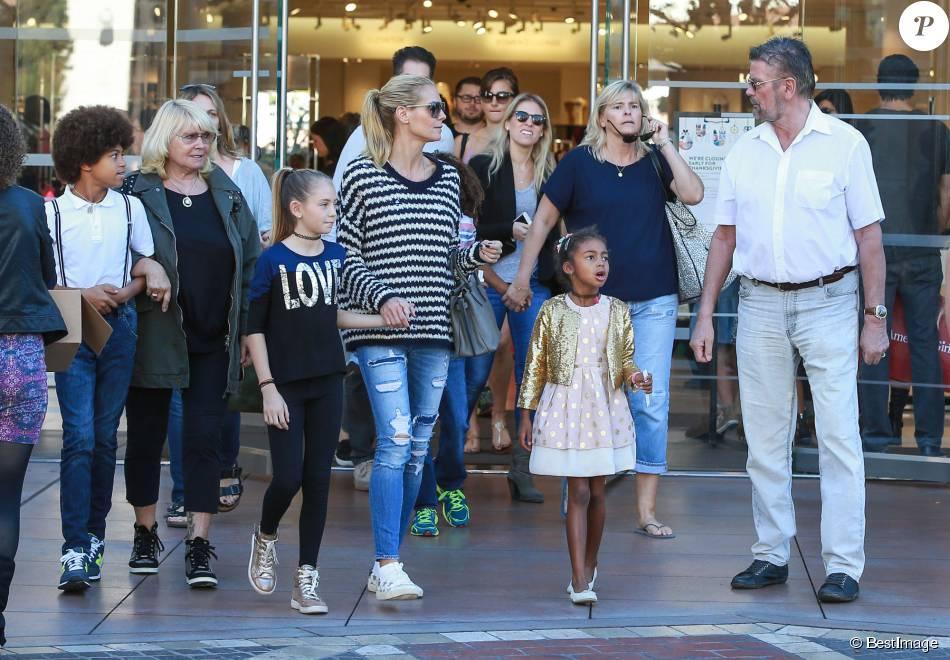 Heidi Klum : Maman stylee et detendue pour une viree shopping...