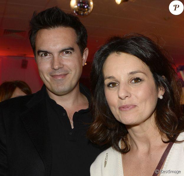 Faustine Bollaert et son mari Maxime Chattam, à la soirée de lancement de la 95e édition du Prix d'Amérique Opodo à l'Hippodrome de Paris-Vincennes, le 24 novembre 2015. ©Guirec Coadic