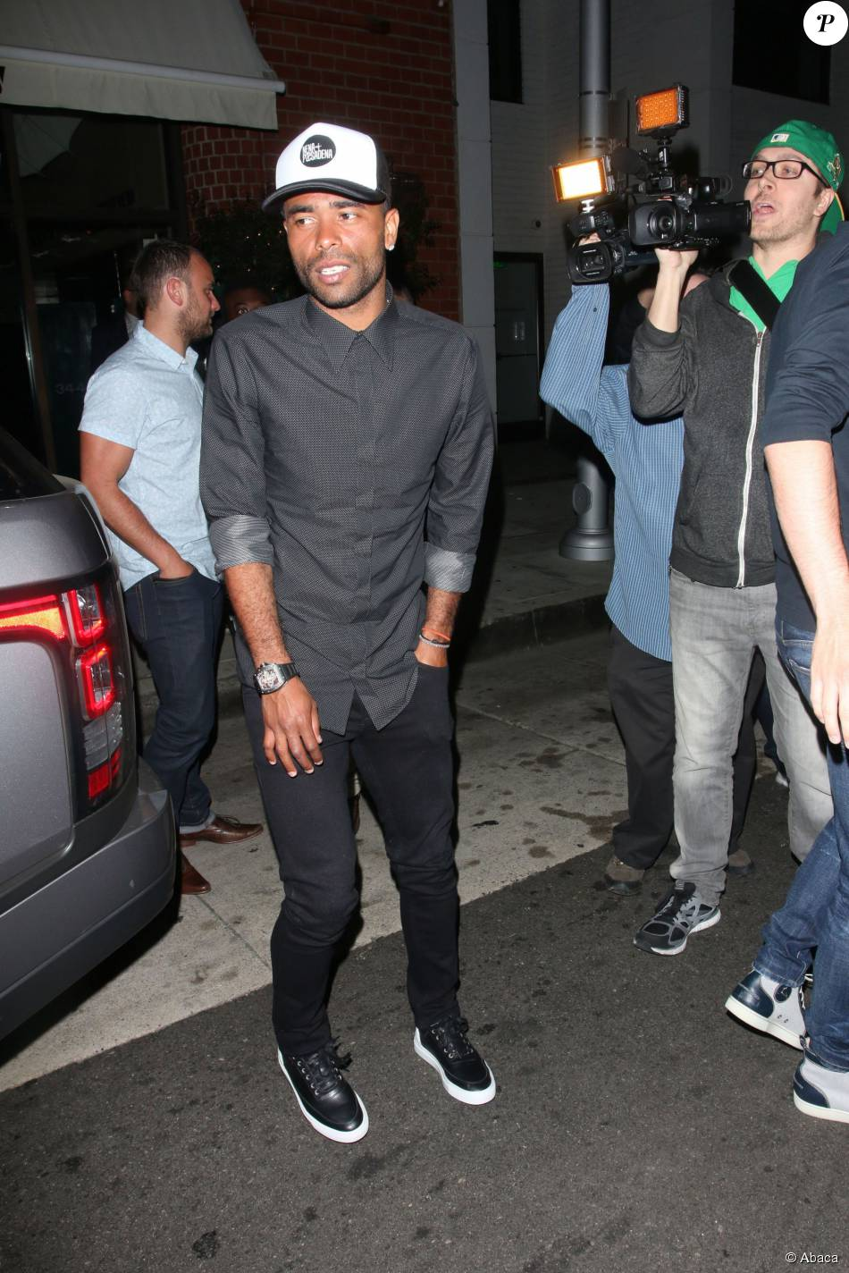 Ashley Cole seen à la sortie de chez Mr. Chow à Beverly Hills, le 3 juin 2014