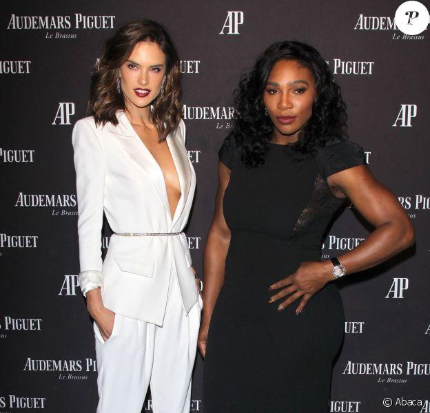 Alessandra Ambrosio et Serena Williams assistent à la soirée d'inauguration du nouveau magasin Audermars Piguet, au 254 Rodeo Drive. Beverly Hills, Los Angeles, le 9 décembre 2015.
