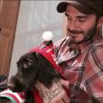 David Beckham et sa petite chienne Olive, prête pour les fêtes de Noël - Photo publiée le 7 décembre 2015
