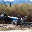 Image des débris d'un des hélicoptères du drame de Dropped dans la province de la Rioja. Adventure Line Production prévoit d'organiser le voyage sur place des proches de victimes qui le souhaitent.
