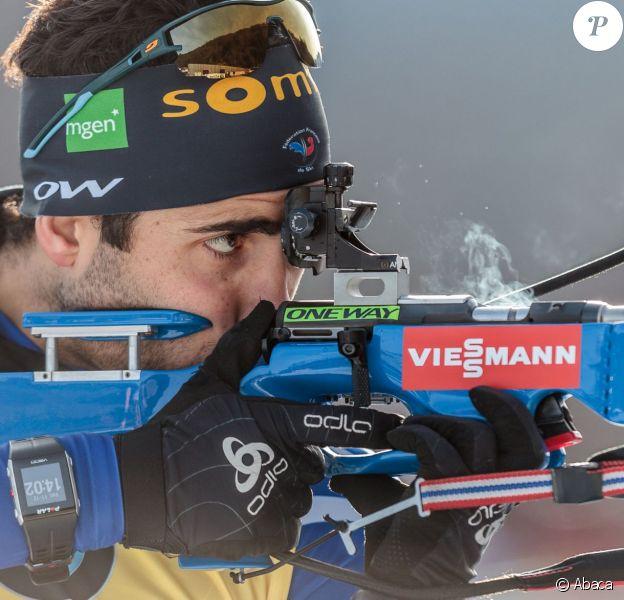 Martin Fourcade au Biathlonstadium de Hochfilzen, le 11 décembre 2015