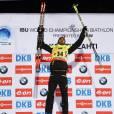 Martin Fourcade sacré champion du monde de biathlon à Kontiolahti en Finlande le 13 mars 2015