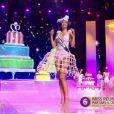Miss Réunion - Les cinq finalistes défilent, lors de l'élection Miss France 2016 le samedi 19 décembre 2015 sur TF1