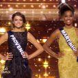 Défilé des 5 finalistes, lors de l'élection Miss France 2016 le samedi 19 décembre 2015 sur TF1