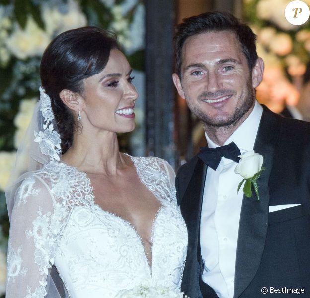 Mariage de Frank Lampard avec Christine Bleakley à Londres le 20 décembre 2015.