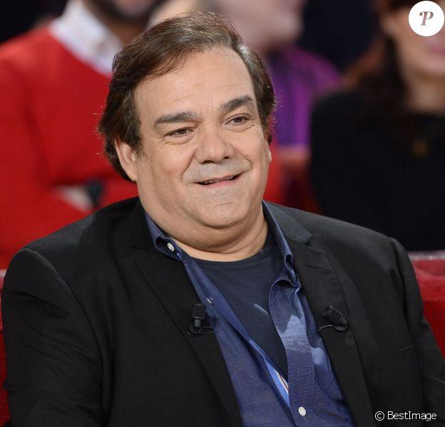 """Didier Bourdon - Enregistrement de l'émission """"Vivement Dimanche"""" à Paris le 9 Décembre 2015 et qui sera diffusée le 13 Décembre 2015."""