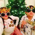 Emme et Max, les jumeaux de Jennifer Lopez et Marc Anthony. Photo postée sur le compte Instagram de la chanteuse américaine, le 20 décembre 2015.