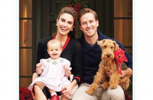 Armie Hammer : Carte de voeux et Noël gargantuesque avec sa fille Harper