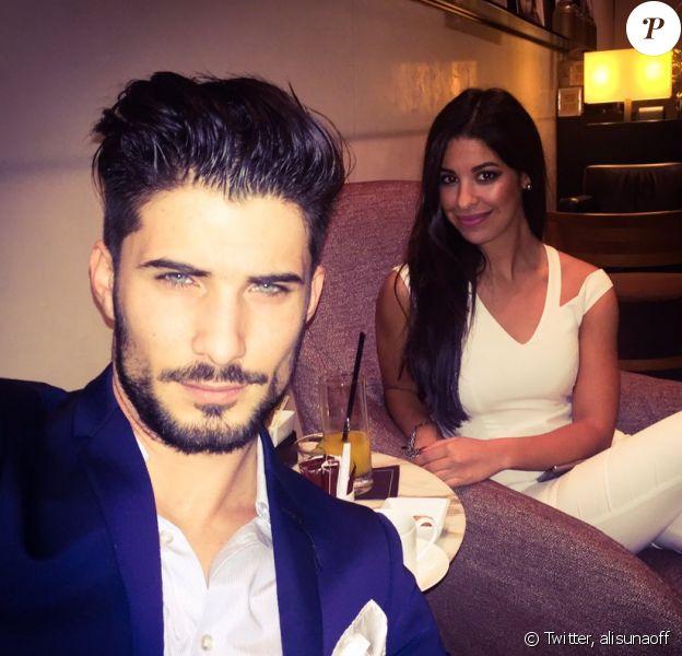 """Alia et Ali (""""Secret Story 9""""), très proches et complices à Milan pour le Nouvel An. Décembre 2015."""