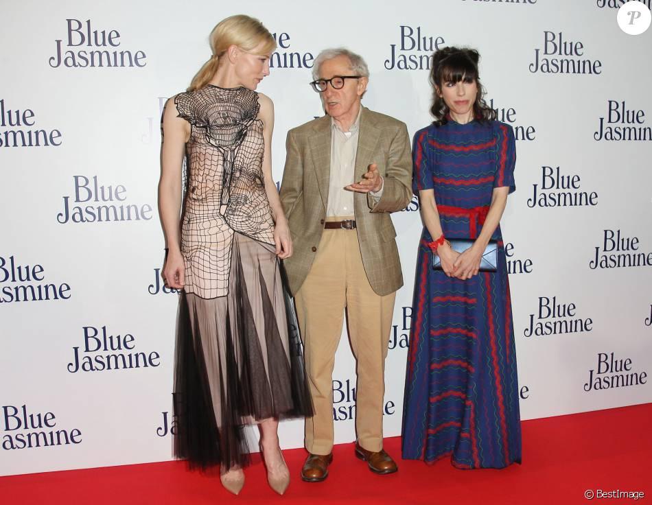 """Cate Blanchett, Woody Allen et Sally Hawkins - Avant-première du film """"Blue Jasmine"""" à Paris, le 27 août 2013."""