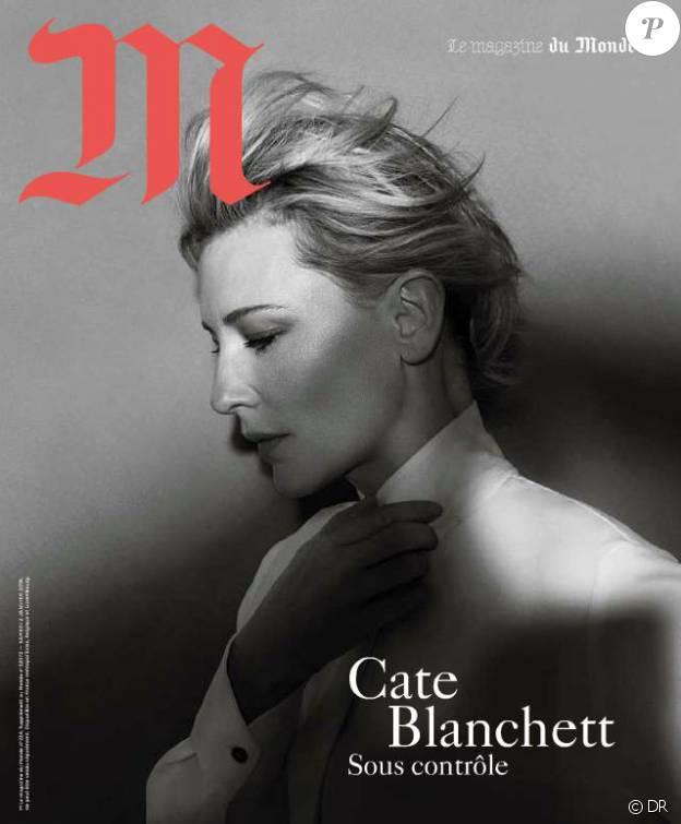 Cate Blanchett en couverture du magazine du Monde, M