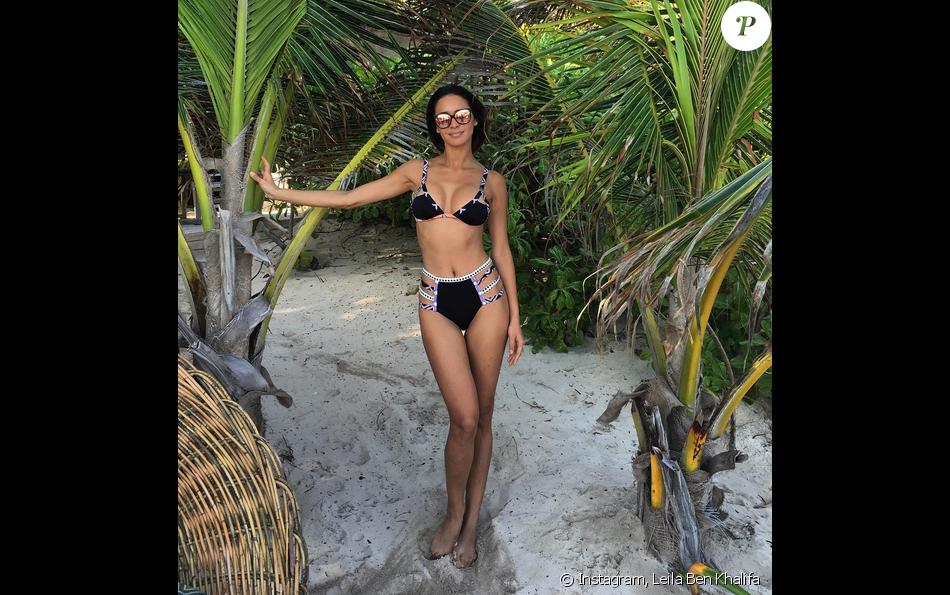 Leila Ben Khalifa en bikini au Mexique, le jeudi 7 janvier 2016.