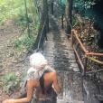 Leila Ben Khalifa en vacances au Mexique. Elle a passé le Nouvel An 2015, sans Aymeric, à Tulum.