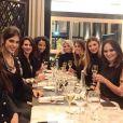 Iris Mittenaere entourée des ex-Miss France et de Sylvie Tellier, le 8 janvier 2016 à Paris.
