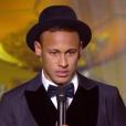 Neymar lors du Ballon d'or 2015 à Zurich le 11 janvier 2016.