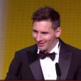Lionel Messi lors du Ballon d'or 2015 à Zurich le 11 janvier 2016.