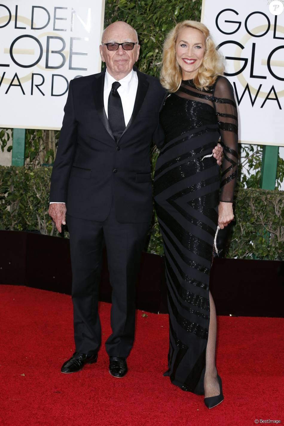 Rupert Murdoch et sa compagne Jerry Hall - La 73ème cérémonie annuelle des Golden Globe Awards à Beverly Hills, le 10 janvier 2016. © Olivier Borde/Bestimage