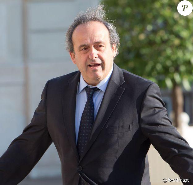 Michel Platini au Palais de l'Elysée à Paris le 10 juin 2015