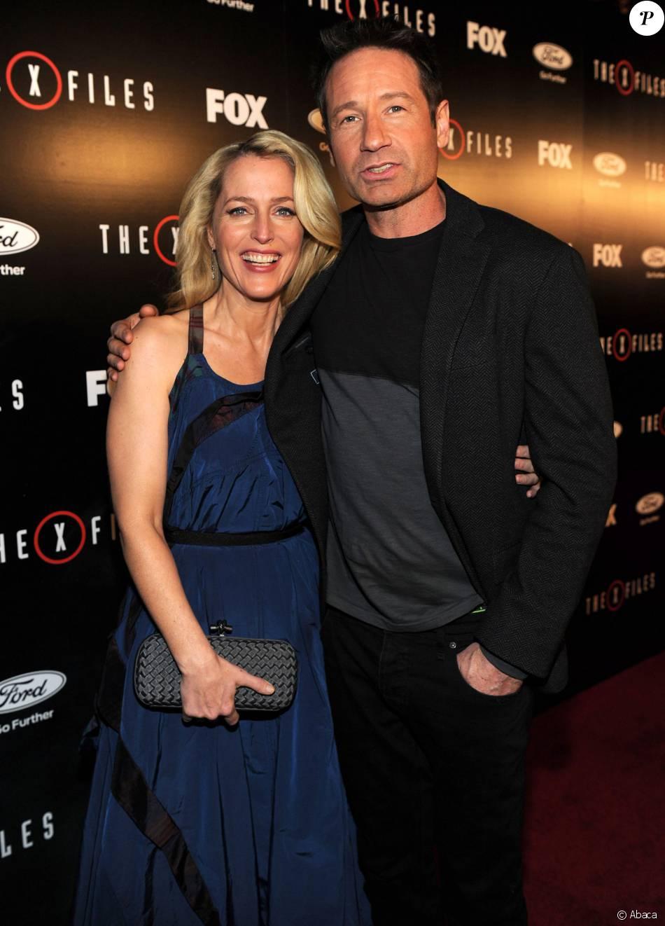 Gillian Anderson et David Duchovny - Présentation de la nouvelle saison de X-Files, à Los Angeles le 12 janvier 2016