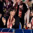 La princesse Stéphanie de Monaco et Pauline Ducruet - 40e Festival International du Cirque de Monte-Carlo au chapiteau de Fontvieille à Monaco, le 14 janvier 2016. © Gaetan Luci/Pool Monaco/Bestimage