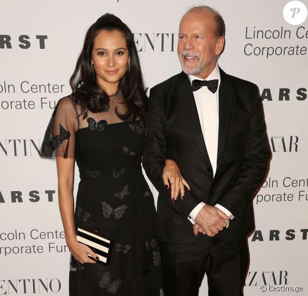 Emma Heming et son mari Bruce Willis au gala de charité 'An Evening Honoring Valentino' à New York, le 7 décembre 2015