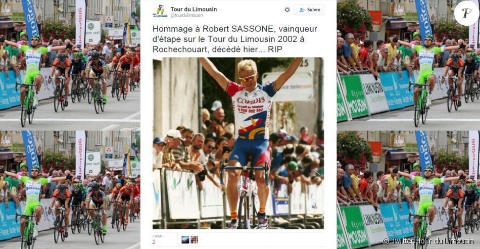Robert Sassone s'est donné la mort en janvier 2016 - Capture d'écran du compte Twitter du Tour du Limousin