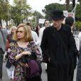 Guillaume Depardieu et sa mère Elizabeth Depardieu à Cannes pour la présentation de Versailles