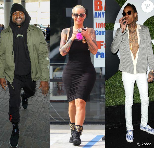 Kanye West, Amber Rose et Wiz Khalifa se sont embrouillés sur Twitter, le 27 janvier 2016.