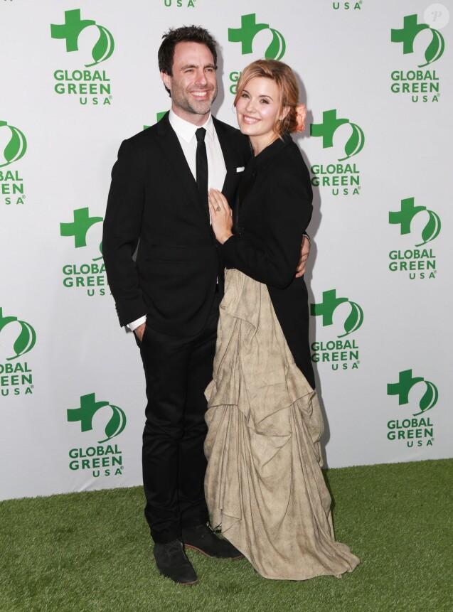 """Maggie Grace et son fiancé Matthew Cooke - 12ème soirée annuelle pre-oscars """"Global Green"""" à Los Angeles, le 19 février 2015."""