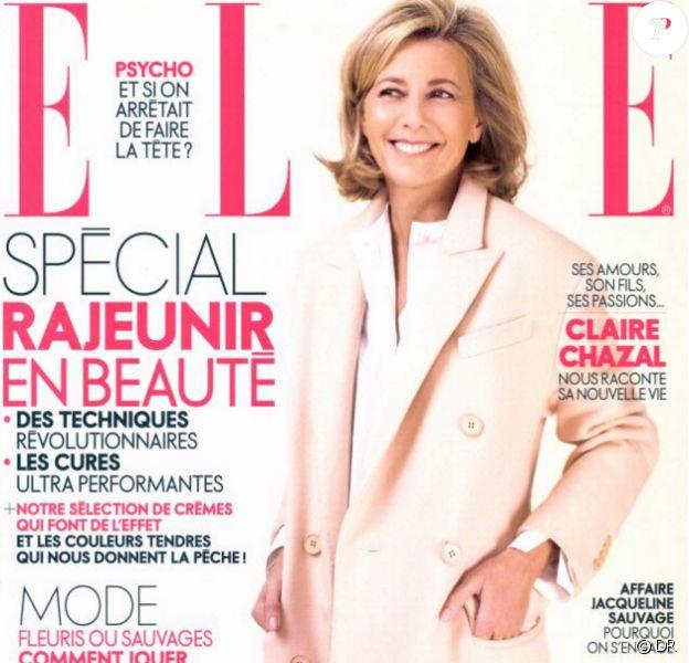 Claire Chazal en couverture de ELLE