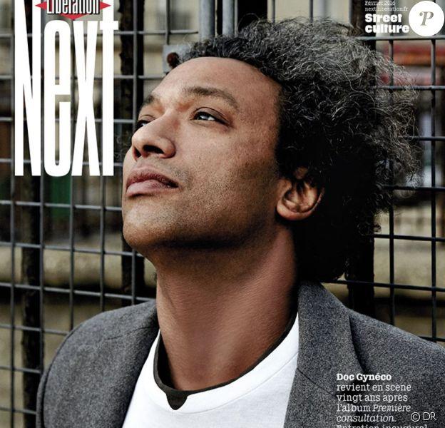 """Doc Gynéco en couverture de """"Next"""", le supplément de """"Libération"""" en kiosques le 6 février 2016."""
