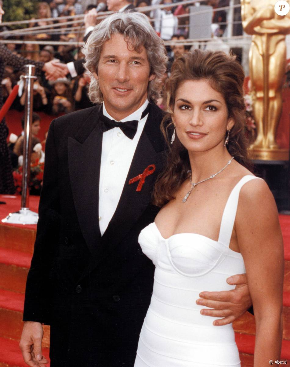 Richard Gere et Cindy Crawford aux Oscars en 1993.