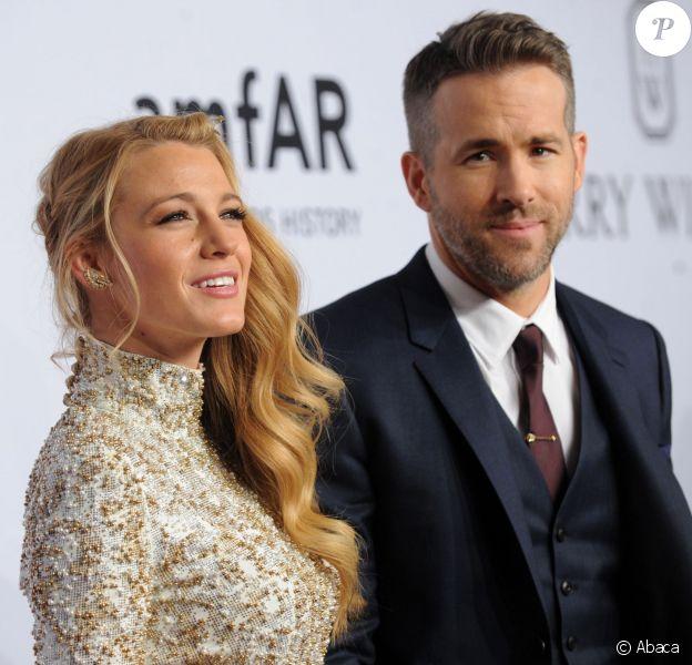 Blake Lively et Ryan Reynolds lors de l'amfAR New York Gala au Cipriani Wall Street à New York City, le 10 février 2016.