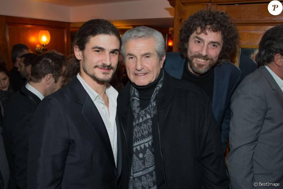 """Exclusif - Sachka Lelouch (à gauche), Claude Lelouch, Simon Lelouch - Soirée de l'avant première du film """"Un + Une"""" de Claude Lelouch au Club 13 à Paris le 23 novembre 2015."""